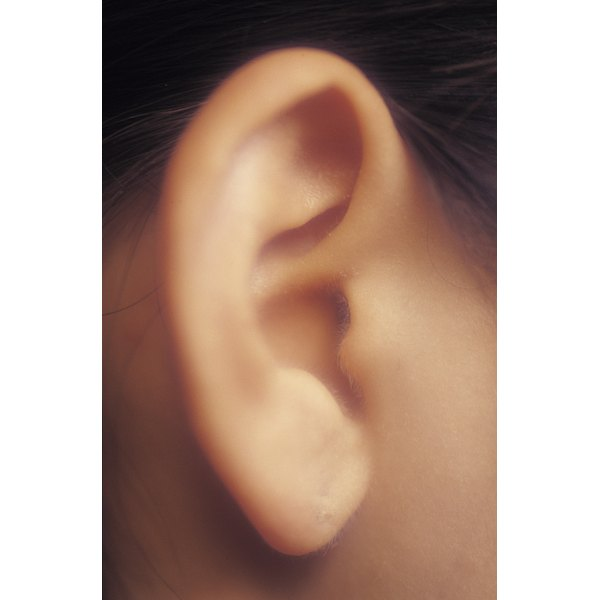Closeup of earlobe