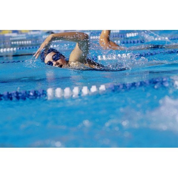 Competition strokes like the butterfly burn more calories than leisurely laps or aqua jogging.