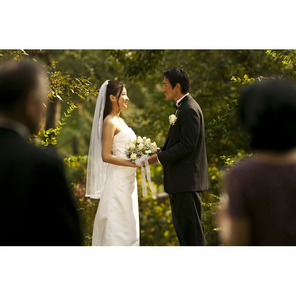 Civil ceremonies may be conducted in a garden or other outdoor venue.