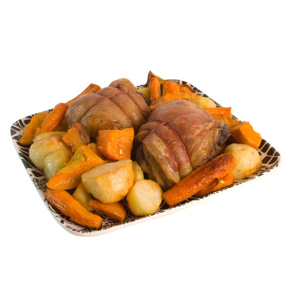 A roast with vegetables