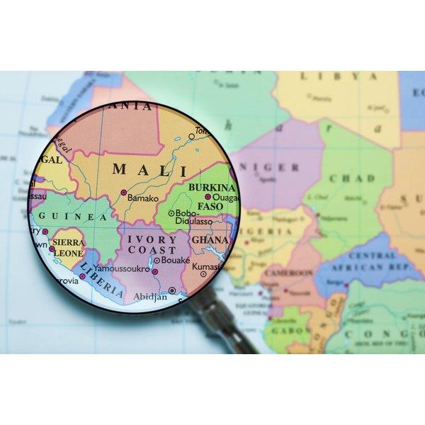 Map of Mali.