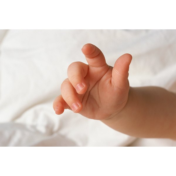 A baby's hand and fingers.