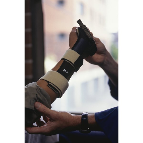 Finger tendon repairs are immobilized with a custom wrist-hand-finger orthosis.