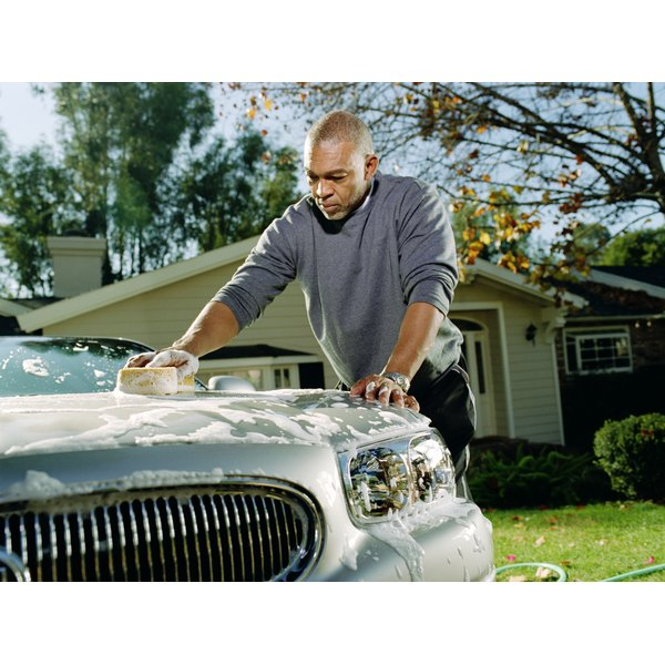 Household activities such as washing your car can burn hundreds of calories.