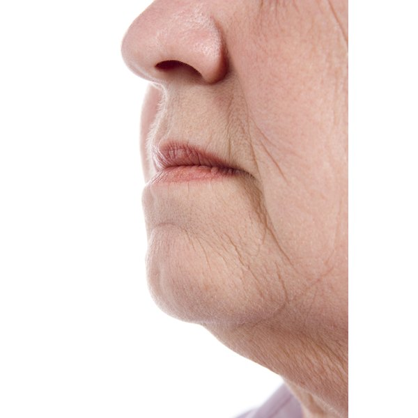 Skin can lose elasticity as a natural process of aging.