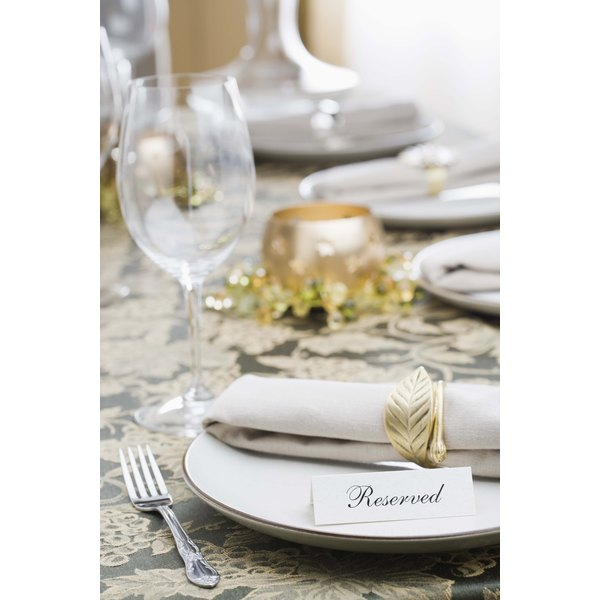 Table Setting Etiquette Napkin Placement Synonym
