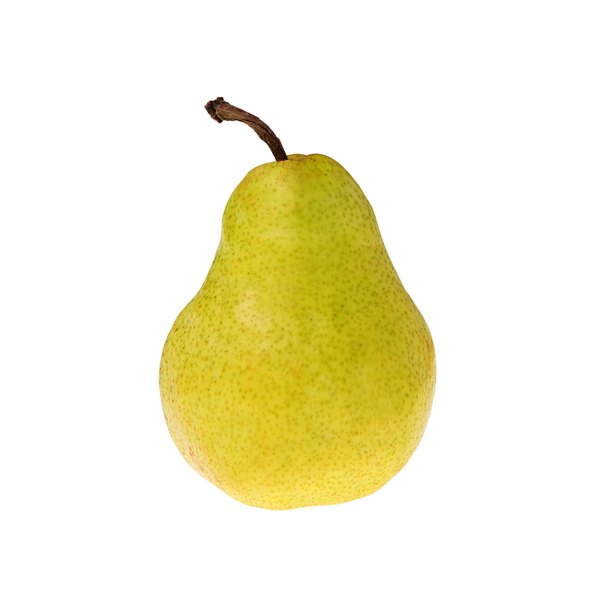 The top half of a person with a pear-shaped body is smaller than the lower half.
