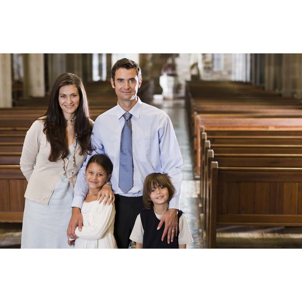 Dress in formal attire for a first communion ceremony for great pictures.
