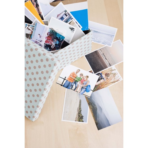 Photographs make a great addition to a memory box.