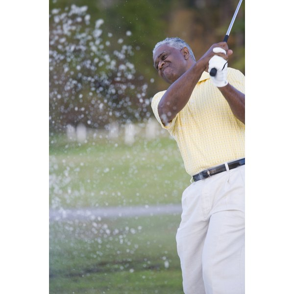 Rotating your body to swing a golf club can injure your groin.