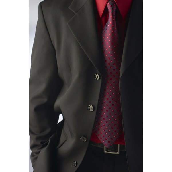 A well-tailored suit jacket always looks neat and professional.