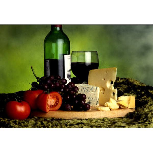 Wine and cheese is an elegant theme for a bridal shower.