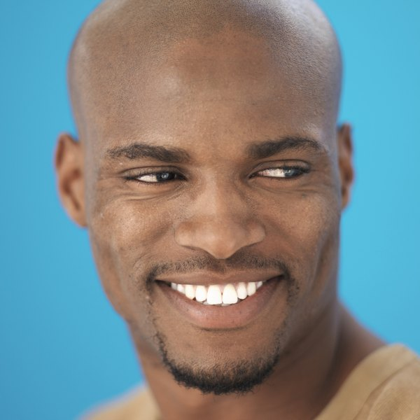 Thinned-out facial hair gives a clean-cut appearance.