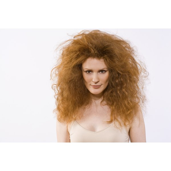 Over-permed hair is often very frizzy.