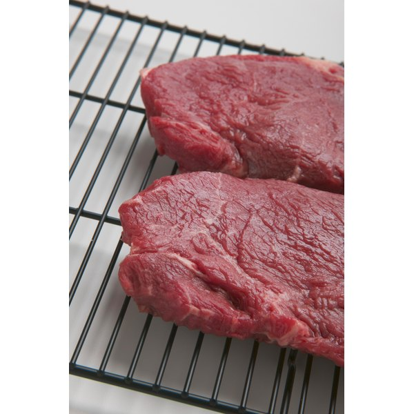 Wafer steaks are lean with very little fat marbling.