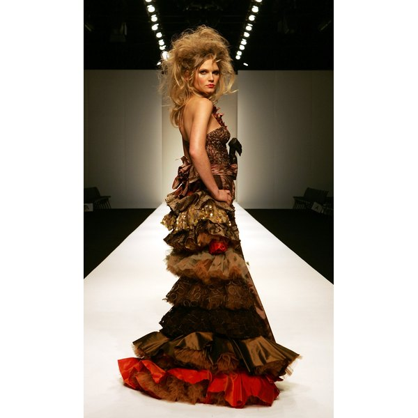 Get inspired and create dresses out of household recyclable materials.