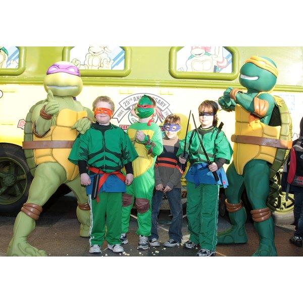 Dress as a Ninja Turtle for Halloween.