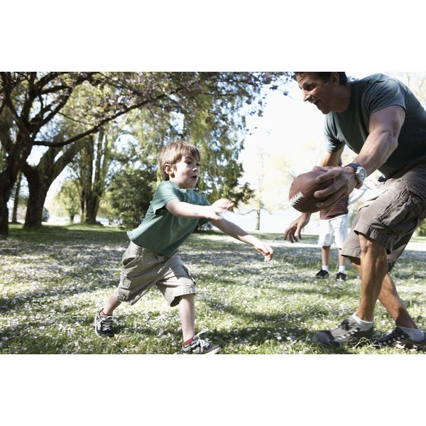 Four-year-old children are learning how to skip, hop and jump with proficiency.