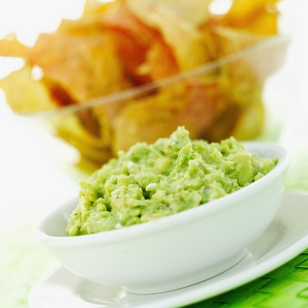 Guacamole with chips is a crowd pleaser.