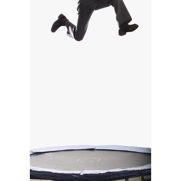 A mini trampoline makes your jumping routine portable.
