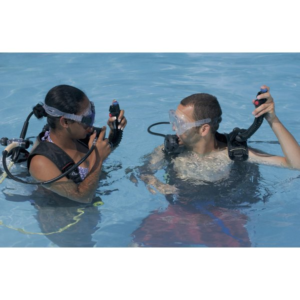 Divers need a certain amount of added weight to achieve neutral buoyancy underwater.