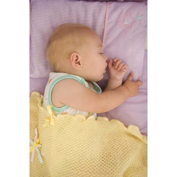 Make sure your baby's blanket is safe for use during naps.