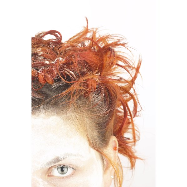 Dyeing parts of your hair can create an interesting look.