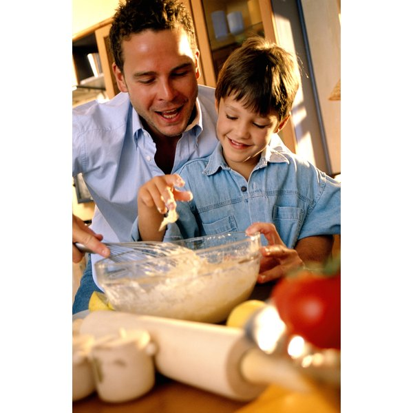 Have children help make the cake and learn about healthy ingredients.
