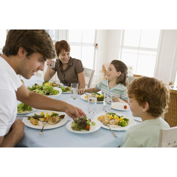 Use mealtime as an opportunity to teach respect and good manners.
