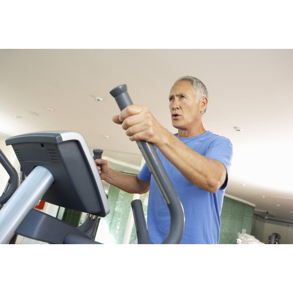 This elliptical trainer is another example of low impact cardio.