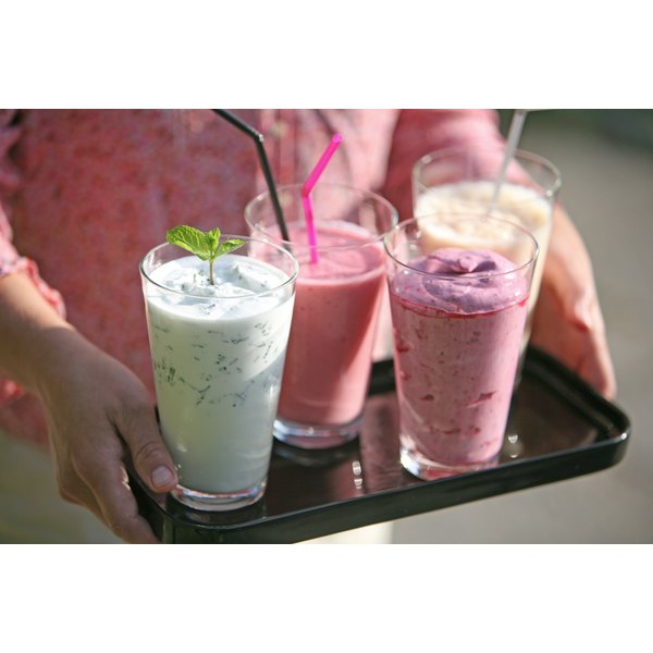 Assorted flavored natural shakes.
