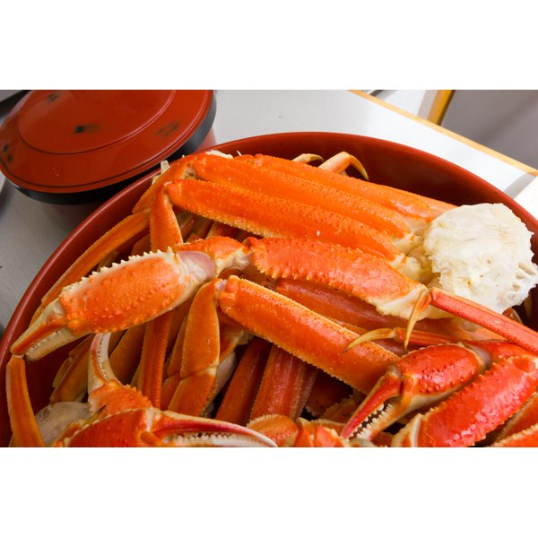 A plate of snow crab legs.