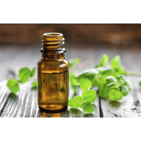 Peppermint leaves and peppermint oil.