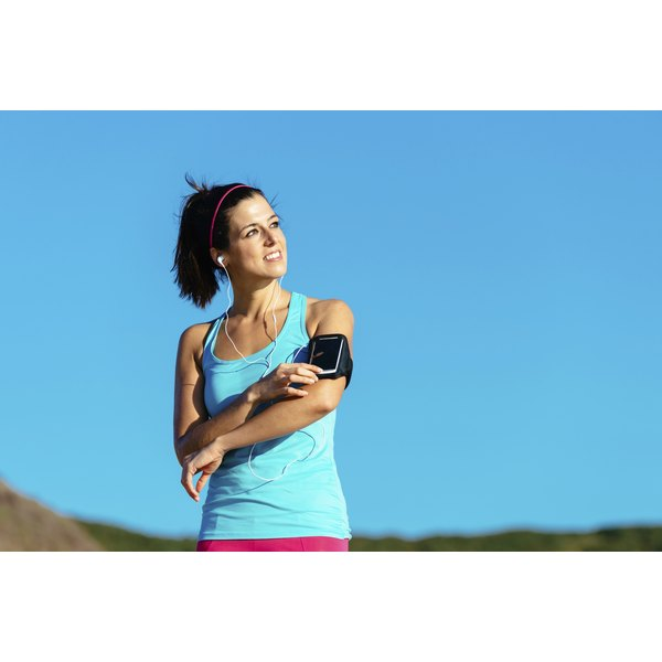 Special armbands can help you measure your approximate calories burned during a workout.
