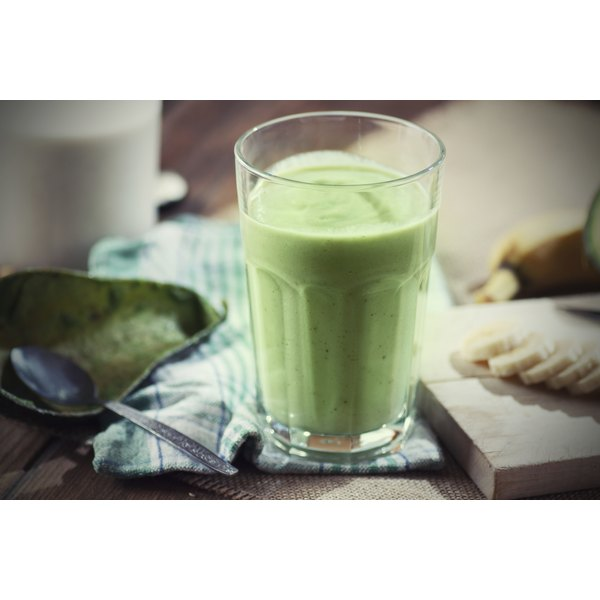 Almond milk smoothie, with banana and avocado, is a good source for vitamin B-12