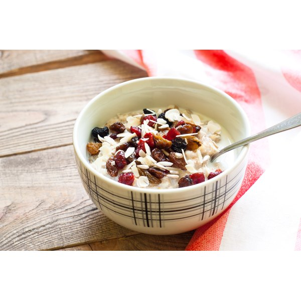 Oatmeal is a healthy soluble carbohydrate.