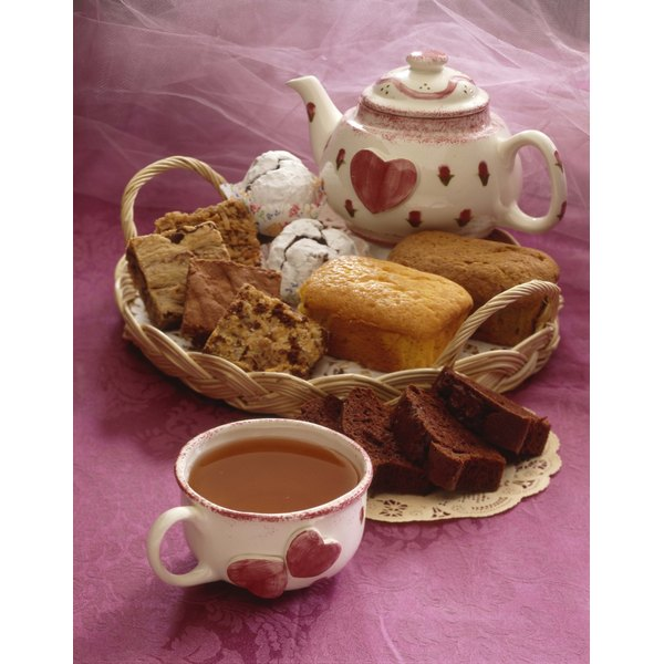 While the focus of high tea is the meal, desserts are also an important component.