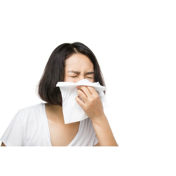 A stuffy nose and congestion can cause difficulty breathing.