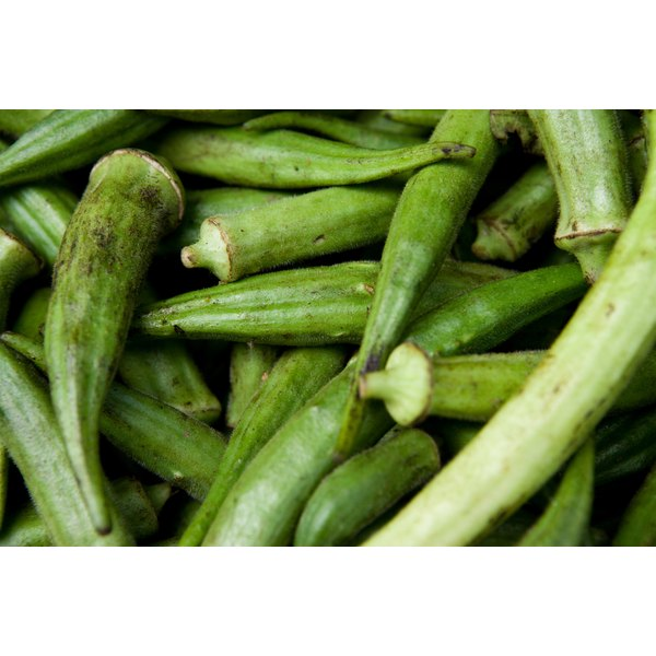 Okra fuzz can easily be removed.