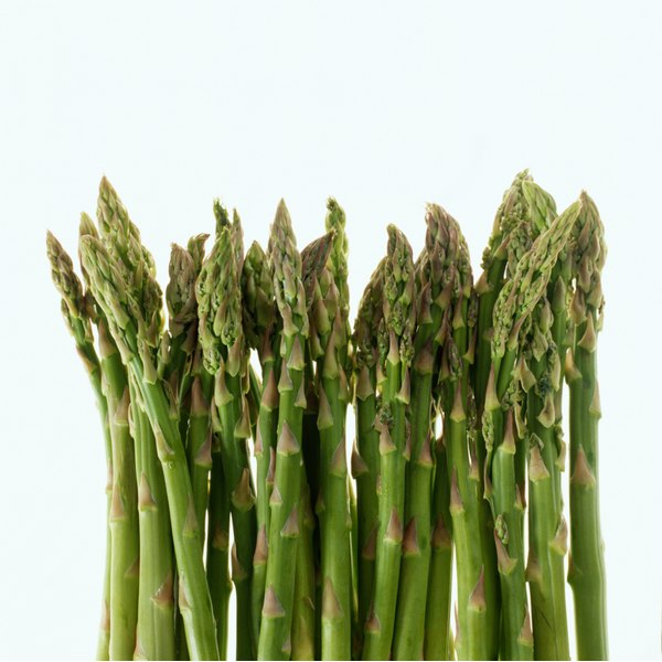 Select asparagus with closed tips for the best taste.