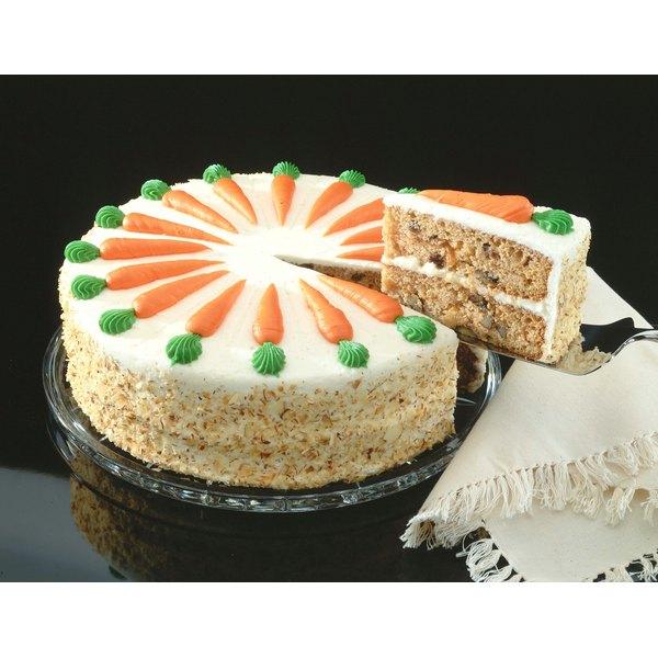 Enjoy homemade carrot cake for dessert.