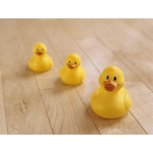 Yellow ducks make an appropriate theme for a gender-neutral baby shower.