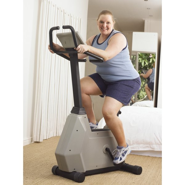 Safely use a stationary bike to lose weight with bad knees.