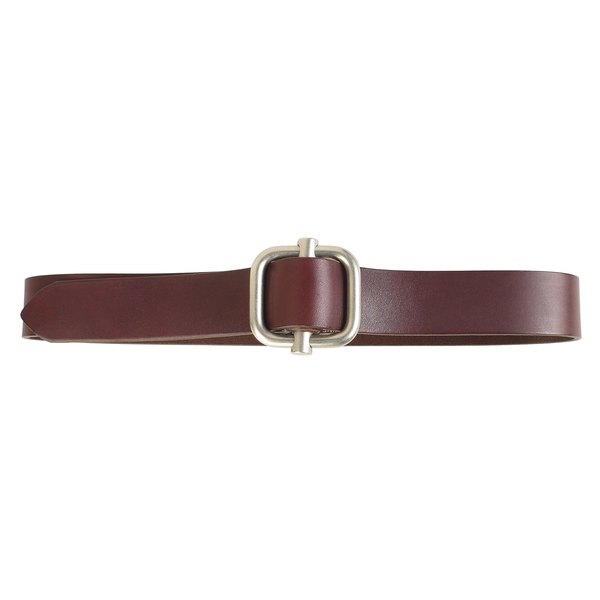 Altering a leather belt creates a customized fit.