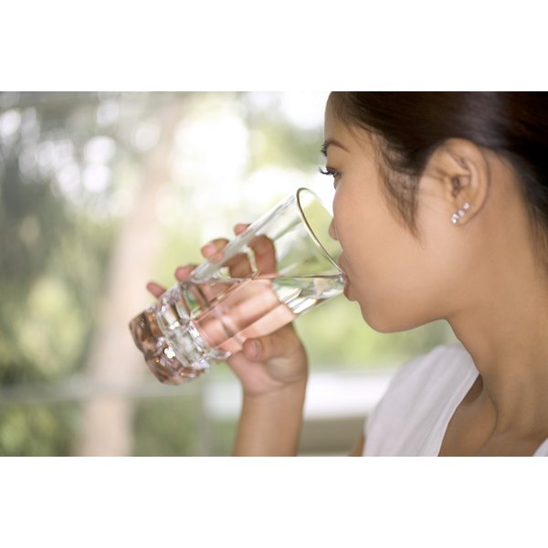 Drink six to eight glasses of water each day to avoid dehydration.