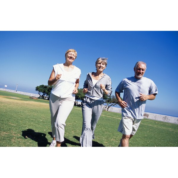 Jogging at 60 can slow the aging process.