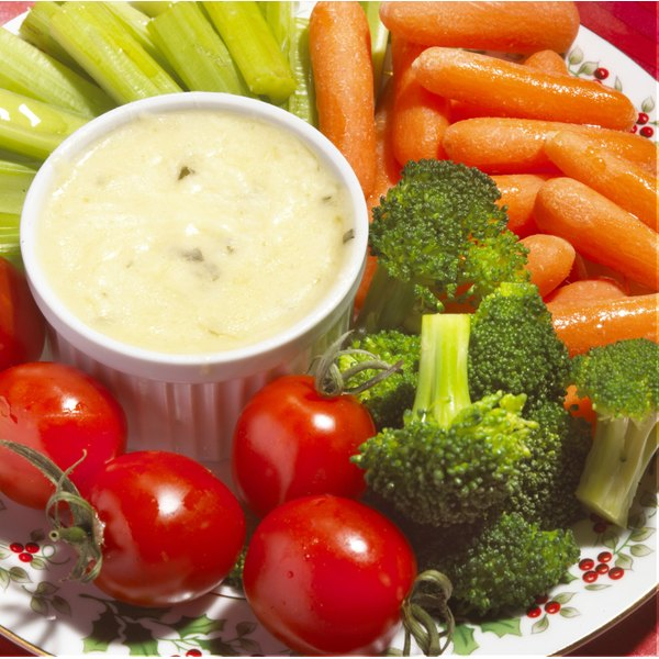 Vegetable plate with broccoli