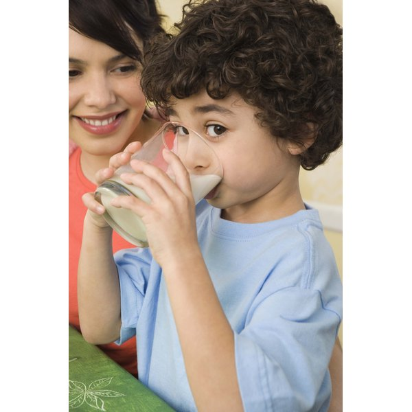 Milk is an excellent source of calcium for young children.
