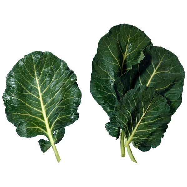 Broad-leaved and dark green, collards are full of nutrients.