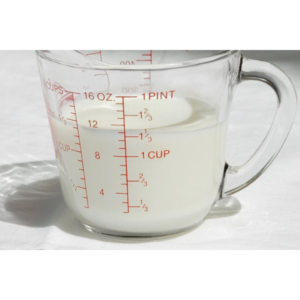 Make sure you have a plastic or glass measuring cup.